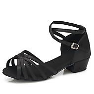 Obyčejné-Dětské-Taneční boty-Latina / Moderní-Satén-Rovná podrážka-Černá