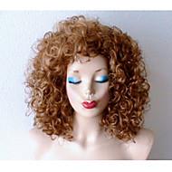 βρώμικο ξανθιά σκούρο ρίζες περούκα βαριά σγουρά ξανθά περούκα διασημότητα χτένισμα περούκα