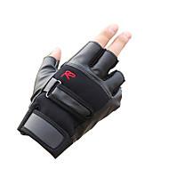 halv hansker mannlig hindres sole seg i tynne glatte pustende lær treningshansker motorsykkel sykkel taktiske hansker