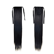 Synthetic Ponytail Hairpieces 22inch 55cm 100g #1 Natural Black Color Long  Hair Extensions