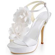 dámská obuv hedvábí jehlové podpatky podpatek / peep toe paty svatební / párty& večerní / šaty modrá / červená / bílá