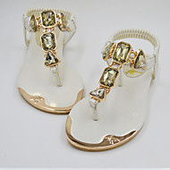 Summer Women's sandals EU35-EU42 Gladiator Flat shoes Casual/Beach/Drees Fashion Rhinestone