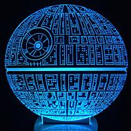 erwacht! mehrfarbigen Todesstern Tischlampe 3D-Todesstern bulbing Licht für star wars