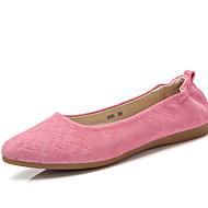 Bez podpatku-Nappa Leather-Mokasíny-Dámská obuv-Růžová / Šedá-Běžné / Atletika-Plochá podrážka