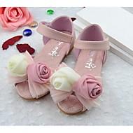 Obuv dívčí-Outdoor-Pohodlné / Sandály-Umělá kůžeRůžová / Bílá