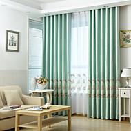 Dois Painéis Rústico / Moderno / Neoclassicismo / Mediterrêneo / Europeu Floral / Botânico Azul / Verde / Rosa / Ciano QuartoPoli/Mistura