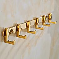 Crochet à Peignoir / Gadget de Salle de Bain / Doré / Fixation Murale /40cm*3.5cm*4.5cm(15.7*1.4*1.8inch) /Laiton / Alliage de Zinc /
