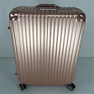 Unisex Outdoor PVC Luggage Rose Gold / Silver 24Inch