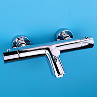 Tub And Shower Thermostatic with  Ceramic Valve Single Handle Two Holes for  Chrome , Shower Faucet Bathtub Faucet