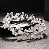 Women's Rhinestone / Crystal / Brass / Imitation Pearl Headpiece-Wedding Tiaras 1 Piece