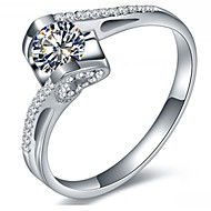 0.6CT Angle Kiss Micro Paved SONA Diamond Ring for Women Sterling Silver Jewelry Semi Mount Engagement Ring 925