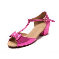 Sapatos de Dança(Preto / Vermelho / Dourado) -Infantil-Personalizável-Latina