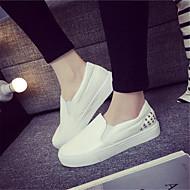 Kényelmes / Csukott orrú-Lapos-Női cipő-Lapos-Alkalmi-PU-Fekete / Fehér