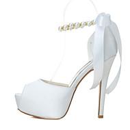 Wedding Shoes - Saltos - Saltos / Peep Toe / Plataforma - Preto / Azul / Rosa / Vermelho / Marfim / Branco - Feminino -Casamento / Festas