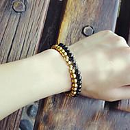 Náramky Strand Náramky Titanová ocel Round Shape Módní Denní / Ležérní Šperky Dárek Zlatá / Černá,1ks