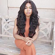 Najwięcej urody najlepiej Sprzedaż naturalne czarne długie faliste koronki przodu peruka włosy syntetyczne odporne na ciepło kobiety