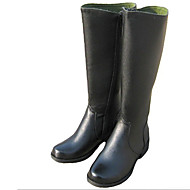 Boots Fall / Winter Motorcycle Boots Leather / Cowhide Outdoor Low Heel Others Black