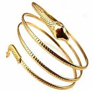 Feminino Bracelete Liga Moda Estilo Boêmio Adorável Dupla camada Cobra Jóias Prata Dourado Jóias 1peça