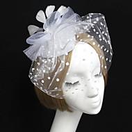 Women's Feather Tulle Net Headpiece-Wedding Birdcage Veils 1 Piece
