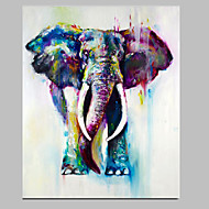 Handmade Elephant Painting Animal Wall Art Acrylic Artwork Ready to Hang For Home Decor