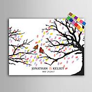 e-home® personlig fingeravtrykk maleri lerret utskrifter -Butterfly på en gren (inkluderer 12 blekk fcolors)