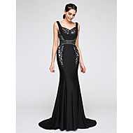 TS Couture® Formal Evening Dress Trumpet / Mermaid Straps Court Train Jersey with Lace