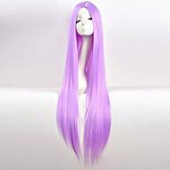 Kvinder Lilla Rett Kinky Glatt Syntetisk hår Maskinprodusert Cosplay-parykk Halloween parykk Karneval Parykk
