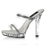 נשים-עקבים-PVC-בלרינה בייסיק נעלי מועדון להאיר נעליים-בהיר-חתונה יומיומי מסיבה וערב-עקב סטילטו