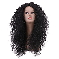 Hot Sale Black Long Curly Wig for African American Women Afro Kinky Curly Synthetic Wig