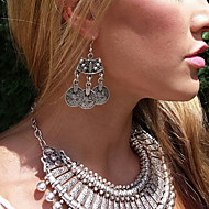 Drop Earrings Alloy Bohemian Punk Fashion Round Silver Jewelry Daily Casual 1 pair