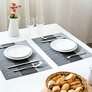 Plastique Rectangulaire Sets de table