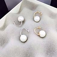 Ohrring Kreisform Schmuck 1 Paar Modisch Alltag / Normal Perle / Aleación Damen Goldfarben