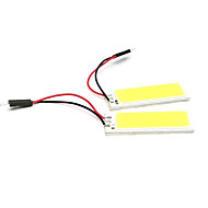 2pcs אבזרי רכב 36 הוביל קלח SMD LED לבן מנורת נורת מכונת כיפת חדר פנימית מכונת אור הפנל (dc12v)