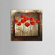 Peint à la main Abstrait / Nature morte / Fantaisie / A fleurs/Botanique Peintures à l'huile,Modern / Classique / Pastoral / Style