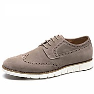 Men's shoes suede leather Aokang brand Breathable Men carving Oxford Shoes Casual Shoes Men Flats
