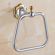 Contemporary Mirror Polished Finishing Bathroom Accessories Solid Brass Material Towel Ring