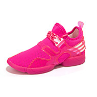 Women's Sneakers Spring / Fall Round Toe PU / Tulle Athletic Flat Heel Others / Lace-up Black / Red / Ivory Sneaker