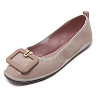 Women's Flats Spring / Fall Ballerina / Round Toe Patent Leather Outdoor Flat Heel Others Black / Red / Almond Others