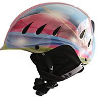 Unisex Helm L: 58-61cm Sport Extraleicht(UL) Befestigt 14 ASTM F 2040 Schnee Sport / Ski Rosa / Blau PC / EPS