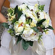"""Esküvői virágok Kör Bazsarózsák Csokrok Esküvő Parti /Estélyi Szatén 9,84"""" (Kb. 25 cm)"""
