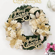 Letter Cards Christmas Wreath Christmas Window Shopping Malls Decoration (40cm)