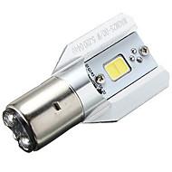 1PCS 12w 흰색 암 나무 열매 오토바이 오토바이 6V-80V를 위해 헤드 램프 ba20d 헤드 라이트 전구를 주도
