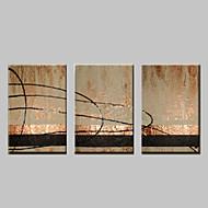 vizuális star®abstract olajfestmény kézzel festett vászon fal művészet három panel készen áll, hogy lefagy