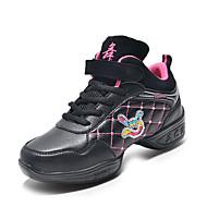 Na míru-Dětské-Taneční boty-Taneční tenisky / Moderní-Kůže-Rovná podrážka-Červená / Zlatá