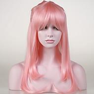 日本の高品質の人工毛淡いピンクのアニメコスプレ衣装の長いウィッグ