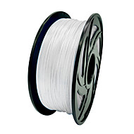 valkoinen 3d tulostustarvikkeiden, kulutushyödykkeet halkaisija 1.75mm, pla materiaali, tulostaa lämpötila: 200 ℃ -230 ℃