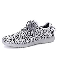 Heren Sneakers Lente Zomer Herfst Comfortabel Light Soles Light Up Schoenen Tule Casual Platte hak Overige Zwart Roze Rood Grijs Wandelen