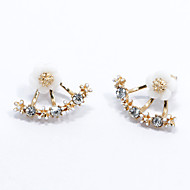 Stud Earrings Fashion Simple Style Sterling Silver Flower Daisy Gold Silver Rose Gold Jewelry For Wedding Party Gift Daily Casual 1 Pair