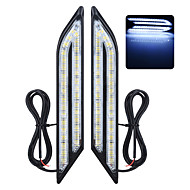exled univerzální vodotěsná bílá / modrá / červená 66-LED denní světla do mlhy pro auta (pár)