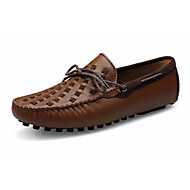 Men's Loafers & Slip-Ons Spring / Fall Comfort Leather Casual Flat Heel Slip-on Black / Brown / Yellow Others
